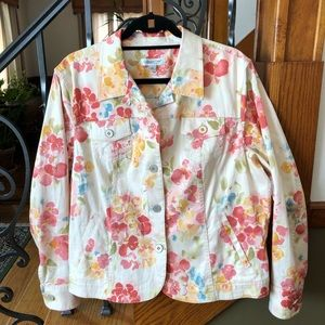 Coldwater Creek Floral Jacket XL